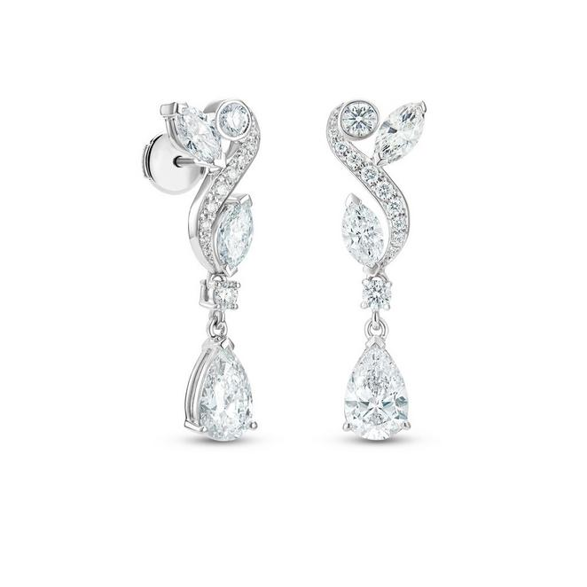 Adonis Rose earrings in white gold