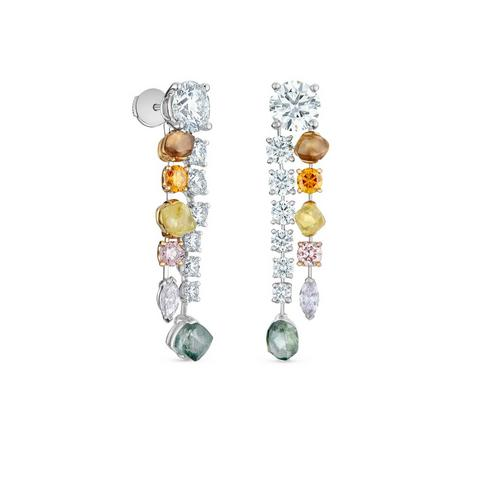 Diamond Legends by De Beers, Vulcan earrings