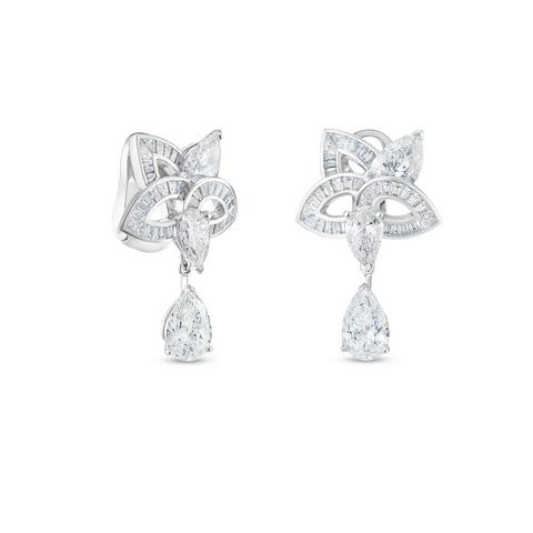 Lotus by De Beers, Blooming Lotus earrings