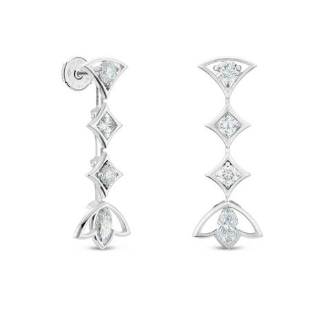 Boucles d'oreilles Radiating Lotus, Lotus by De Beers