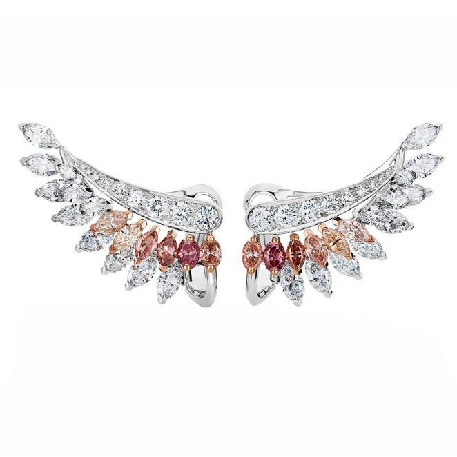 Portraits of Nature by De Beers, Greater Flamingo earrings