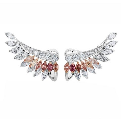 Boucles d'oreilles Greater Flamingo, Portraits of Nature by De Beers