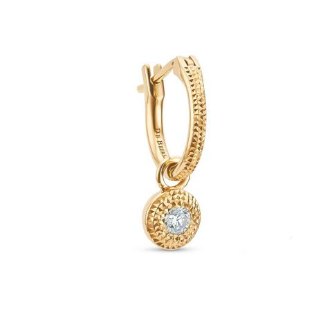 Talisman單只黃金圓形鑽石耳環