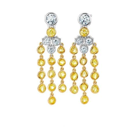 Boucles d'oreilles Electric Cichlid, Portraits of Nature by De Beers