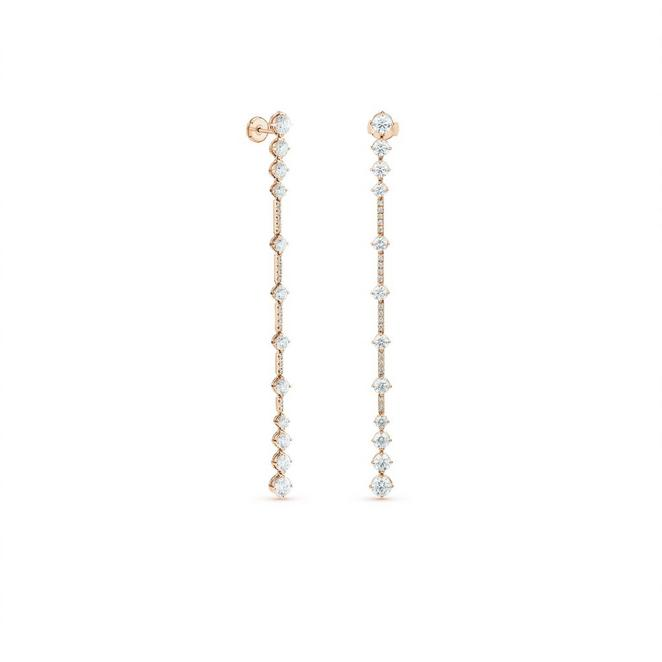 Arpeggia one line earrings in rose gold