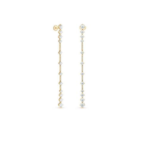 Arpeggia one line earrings in yellow gold