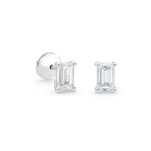 DB Classic emerald-cut diamond studs