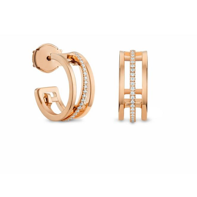 Horizon hoop earrings in rose gold