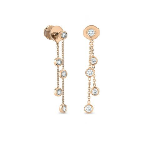 Clea five diamond earrings in rose gold