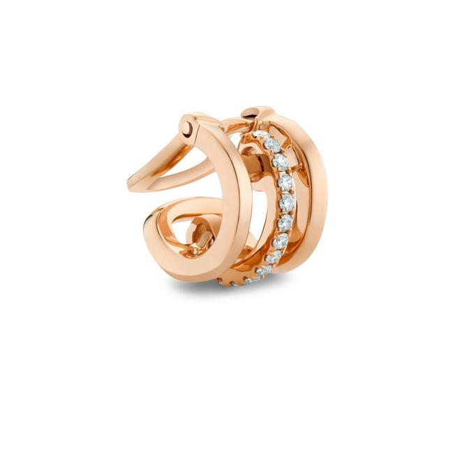 Horizon earcuff in rose gold