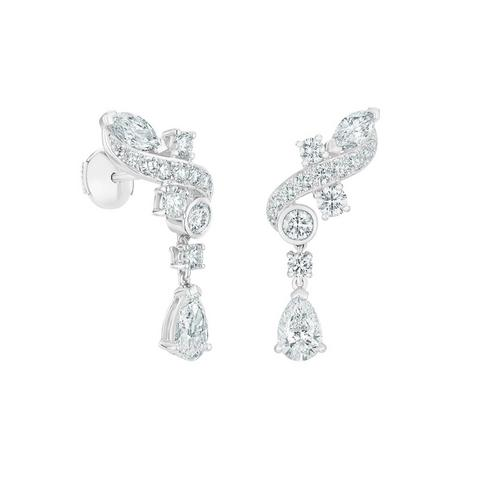 Adonis Rose climber earrings in white gold