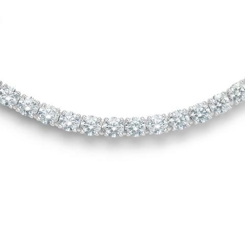 DB Classic eternity line round brilliant diamonds necklace 39 cm