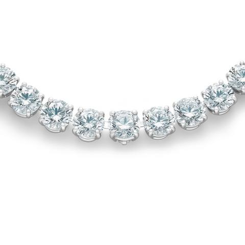 DB Classic eternity line round brilliant diamonds necklace 43 cm
