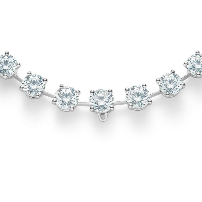 DB Classic Drops of Light round brilliant diamond necklace