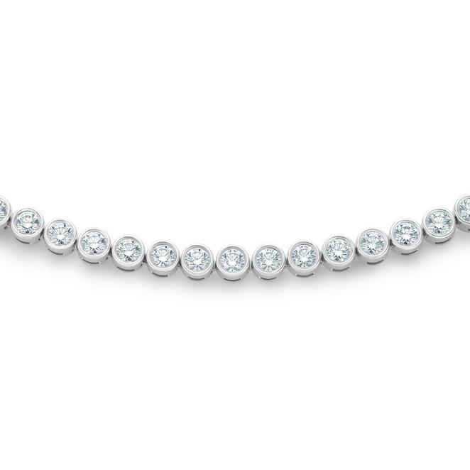 DB Classic eternity line round brilliant diamond necklace