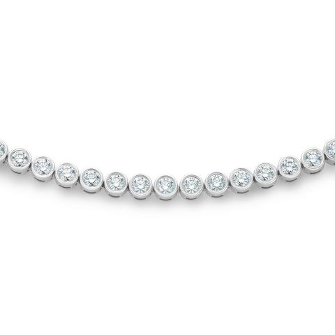 DB Classic Eternity Line 白金包鑲圓形鑽石項鍊