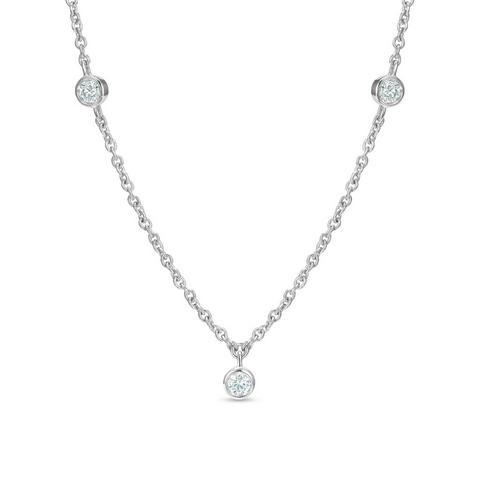 Clea five diamond necklace in white gold