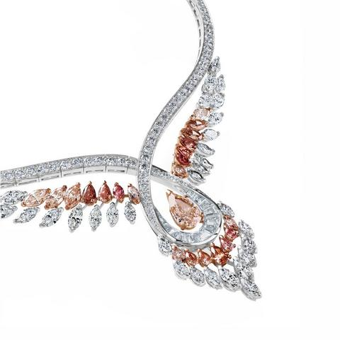 Portraits of Nature by De Beers, Greater Flamingo necklace