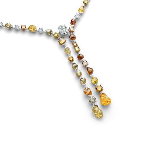 Talisman line necklace 42 cm