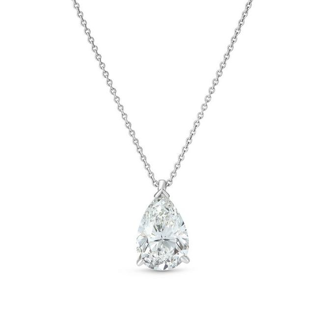 DB Classic pear-shaped diamond pendant