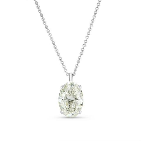 DB Classic oval-shaped diamond pendant