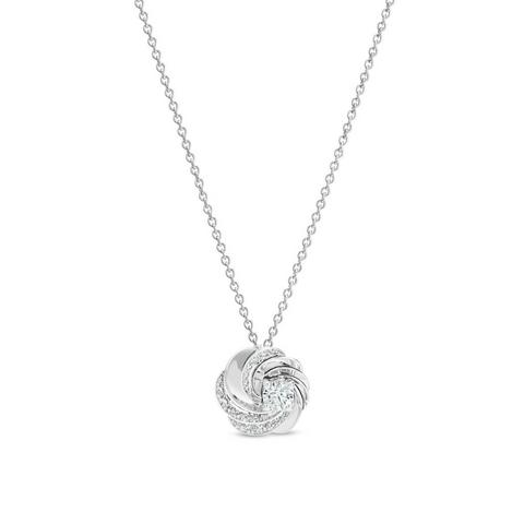 Aria pendant in white gold 42 cm