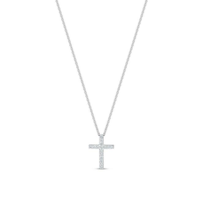 DB Classic cross pendant in white gold