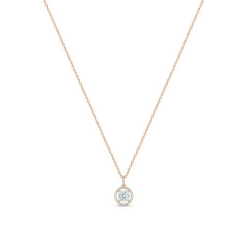 Aura round brilliant diamond pendant