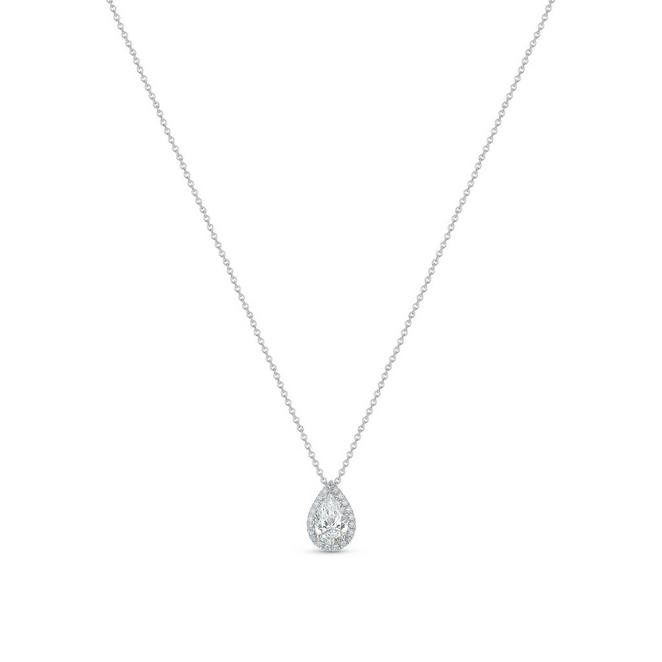 Aura pear-shaped diamond pendant