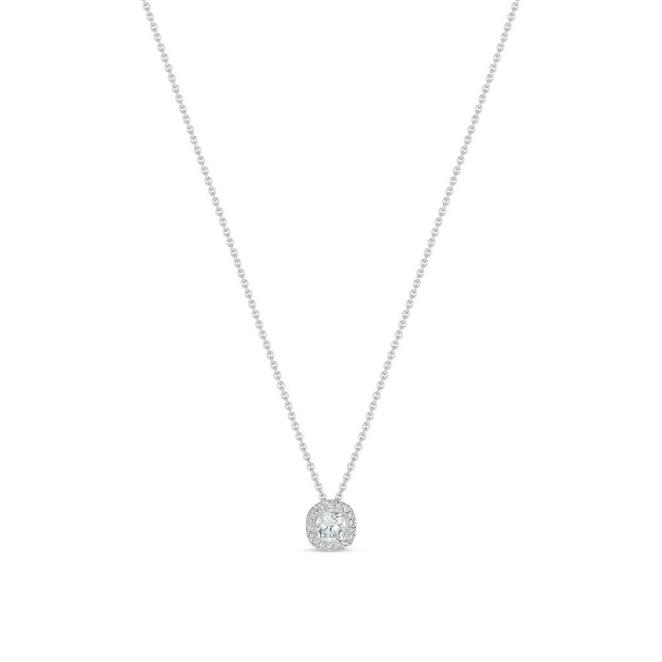 Aura cushion-cut diamond pendant