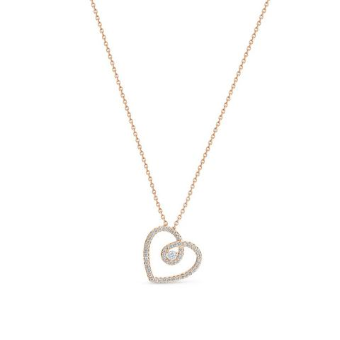 DB Classic heart pendant in rose gold