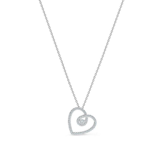 DB Classic heart pendant in white gold