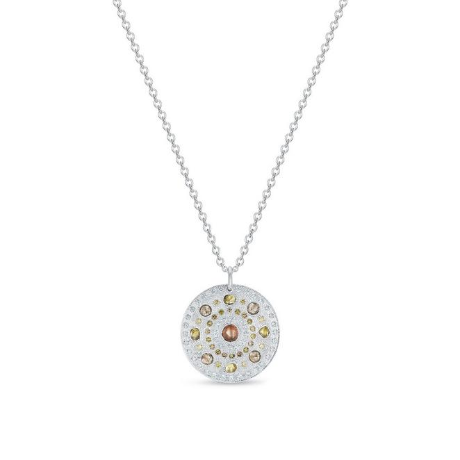 Talisman medal in white gold