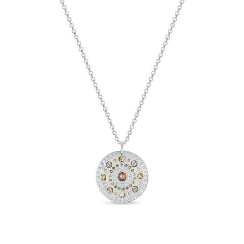 Talisman medal in white gold 45 cm