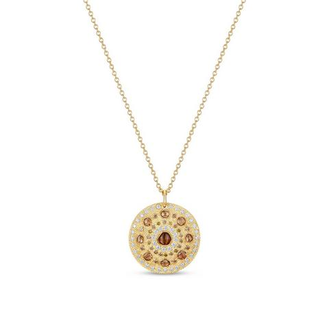 Talisman medal in yellow gold 45 cm