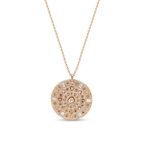 Talisman medal in rose gold 60 cm