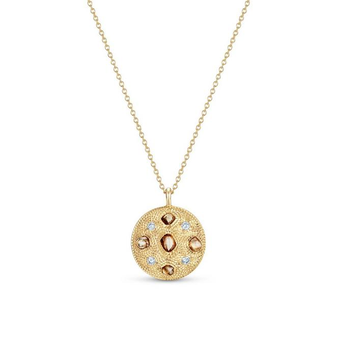 Talisman medal in yellow gold