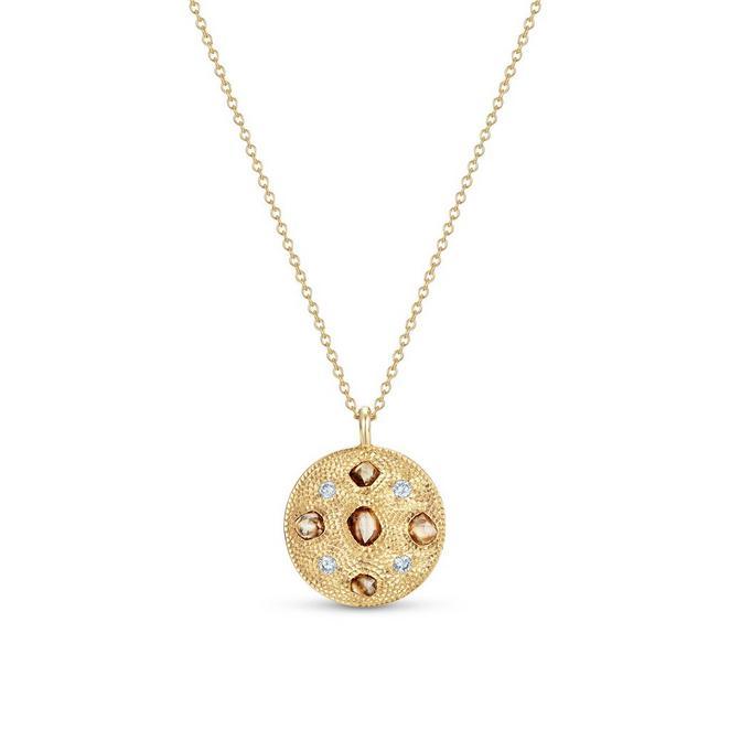 Talisman黃金圓牌項鍊