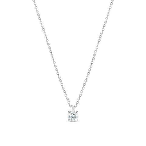 DB Classic 圆形明亮式切割钻石项链