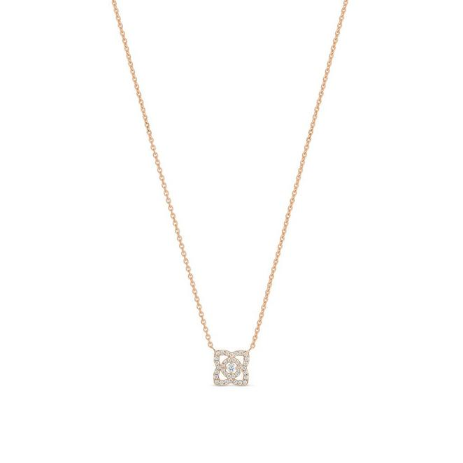 Enchanted Lotus pendant in rose gold