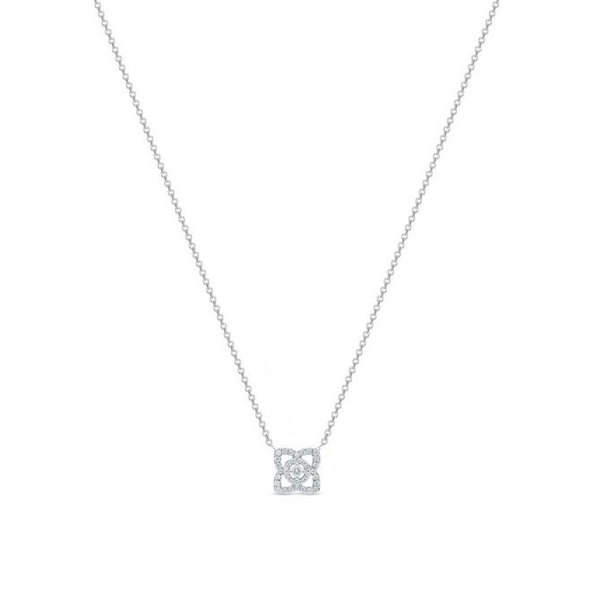Enchanted Lotus pendant in white gold