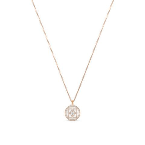 Enchanted Lotus pendant in rose gold and mother-of-pearl