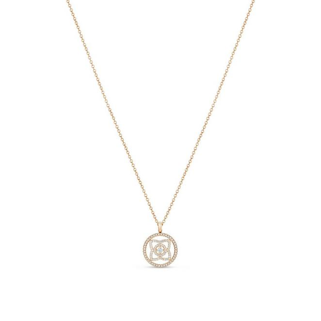 Enchanted Lotus medal pendant in rose gold