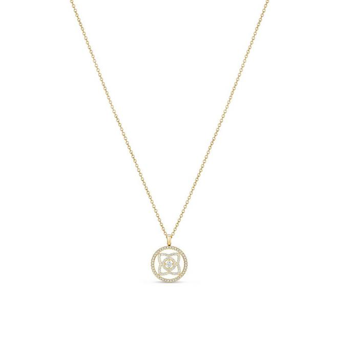 Enchanted Lotus medal pendant in yellow gold