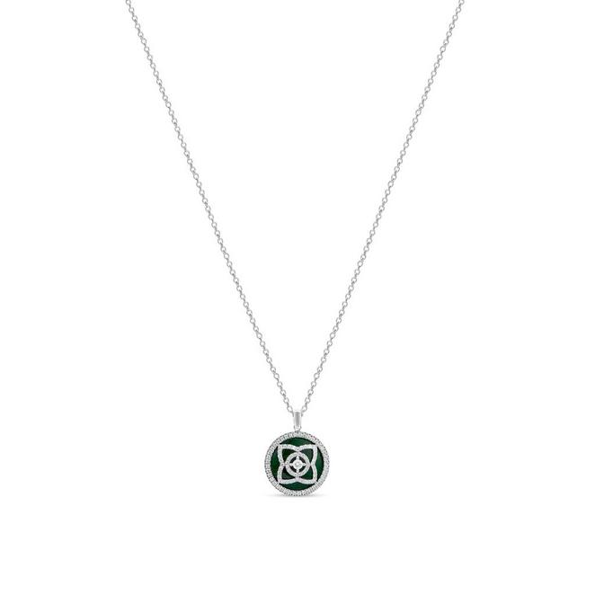 Enchanted Lotus pendant in white gold and jade