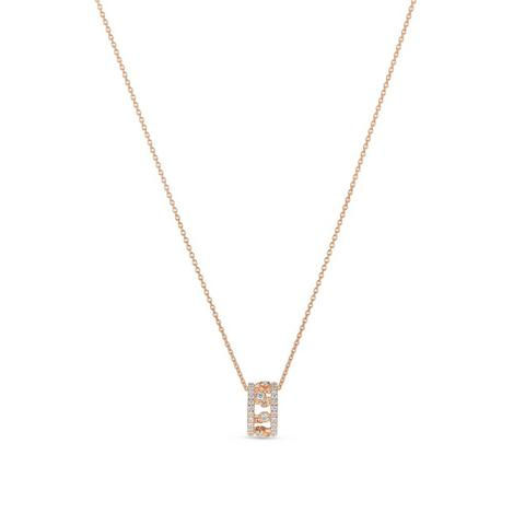 Dewdrop pendant in rose gold 45 cm