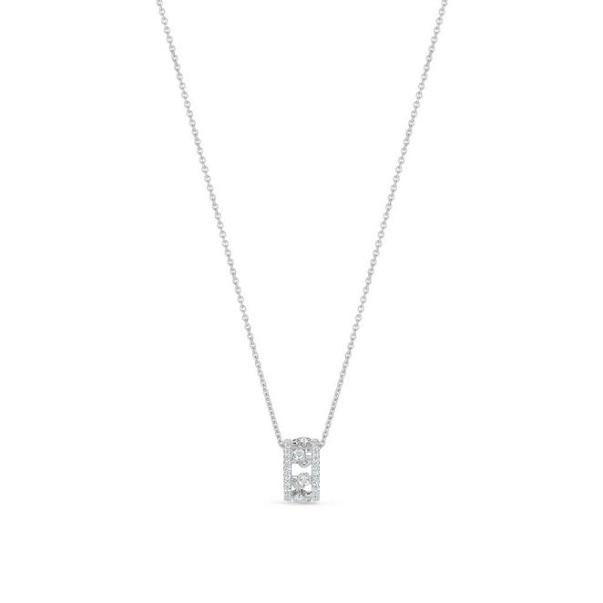 Dewdrop pendant in white gold