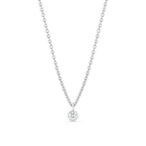 Clea one diamond pendant in white gold