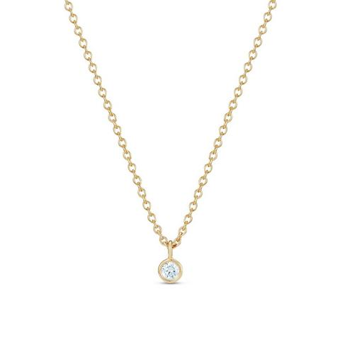 Clea one diamond pendant 45 cm