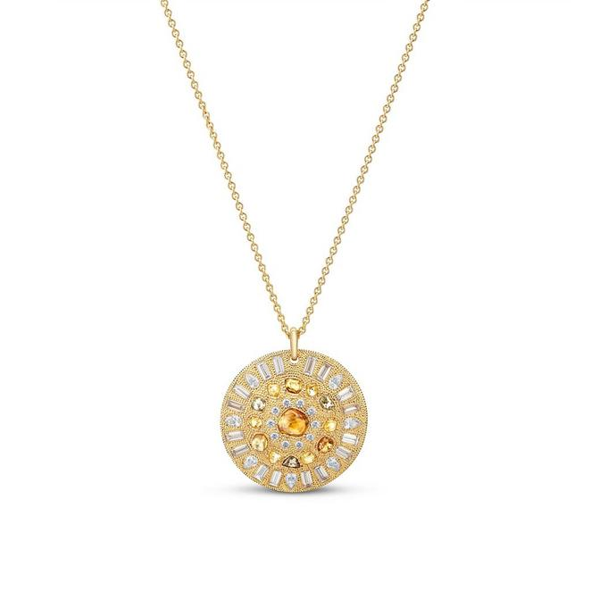 Talisman Summer medal in yellow gold